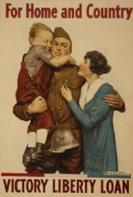 "Vintage WW1 American Poster Army ""For Home and Country"""